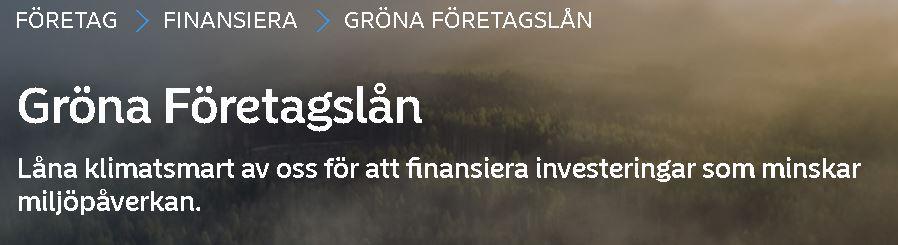 Nordea gröna lån